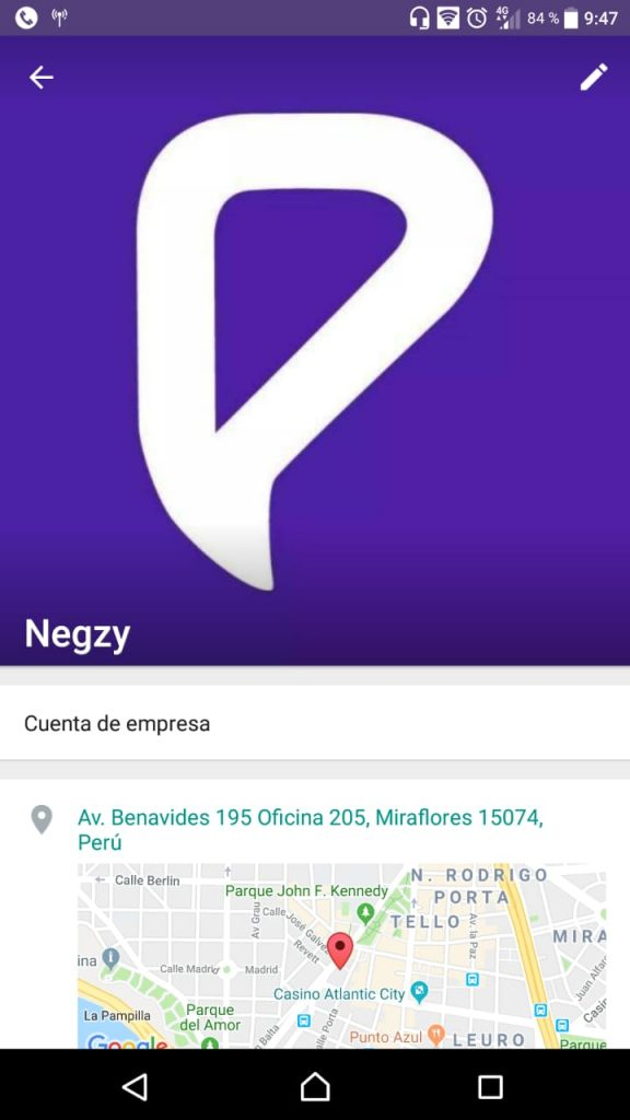 Perfil de Empresa en WhatsApp Business